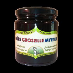 produits-artisanaux-mijote-de-fruits-mure-groseille-myrtille-les-delices-de-sandra-perigord